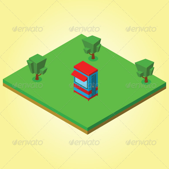 GraphicRiver Isometric Security Cabin 7823413