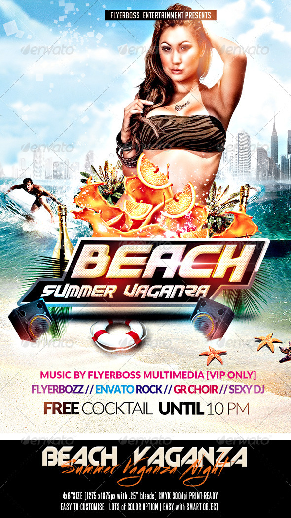 GraphicRiver Beach Summer Vaganza Flyer 7823443