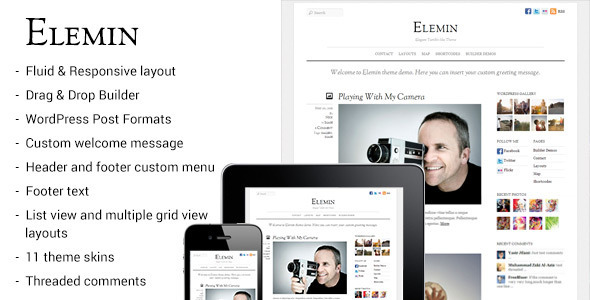 Elemin - Elegant Minimal Responsive Theme - News / Editorial Blog / Magazine