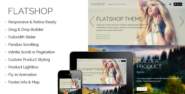ThemeForest Flatshop Parallax WooCommerce Theme 7823536