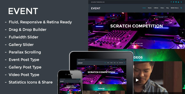 Event - Responsive Parallax Events Theme Download
