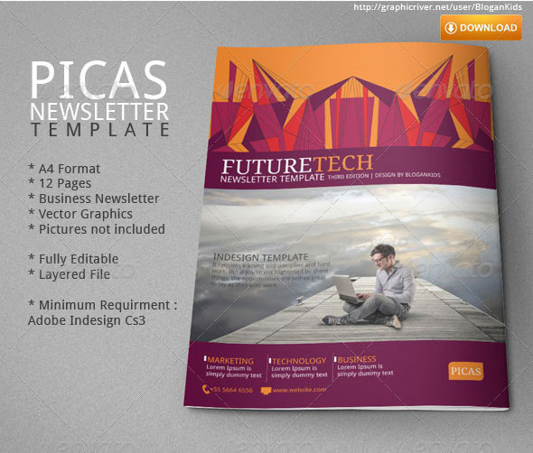 Picas Business Newsletter by BloganKids – Business Newsletter