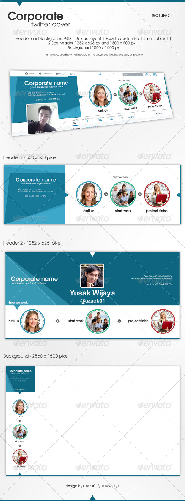 GraphicRiver Corporate Twitter 7823785