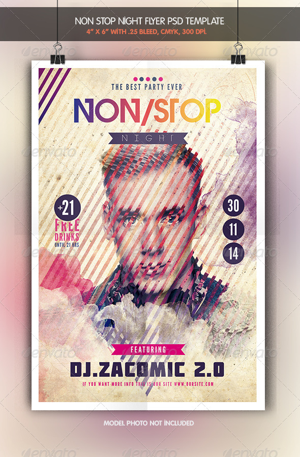 GraphicRiver Non Stop Night Flyer Template 7823832