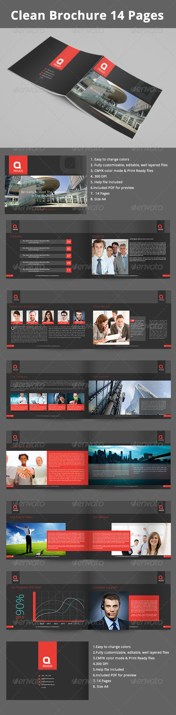 GraphicRiver Clean Business Brochure 14 Pages 7823955