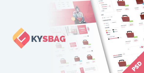 KySbag - eCommerce PSD Template