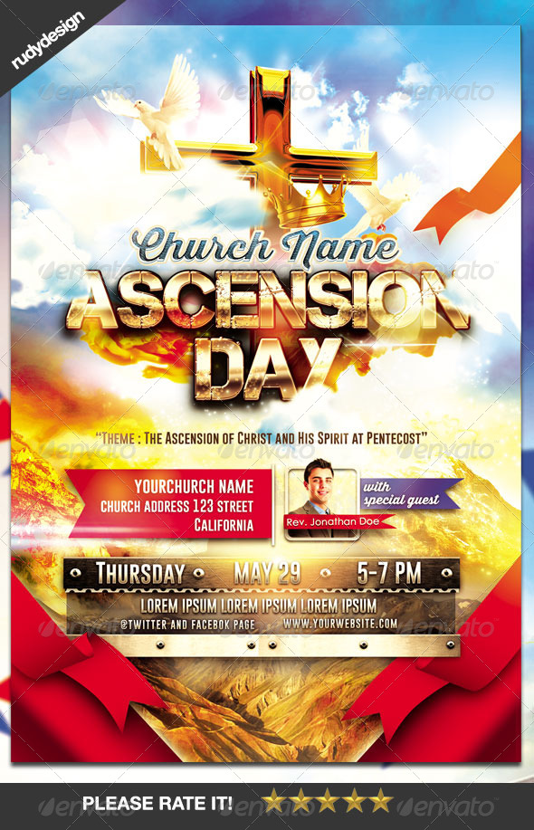 GraphicRiver Church Ascension Day Flyer 7824339