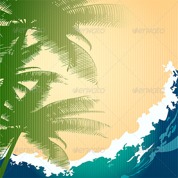 GraphicRiver Seashore Background 7824597