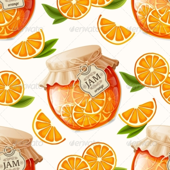GraphicRiver Orange Jam Seamless Background 7824598