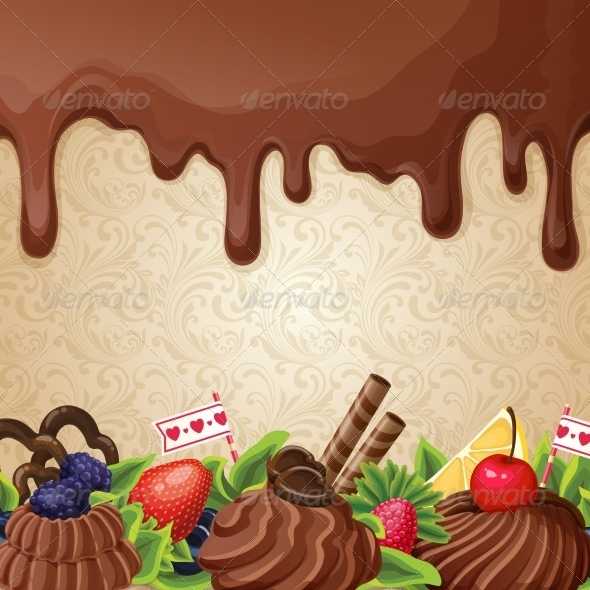 GraphicRiver Chocolate Sweets Background 7824601