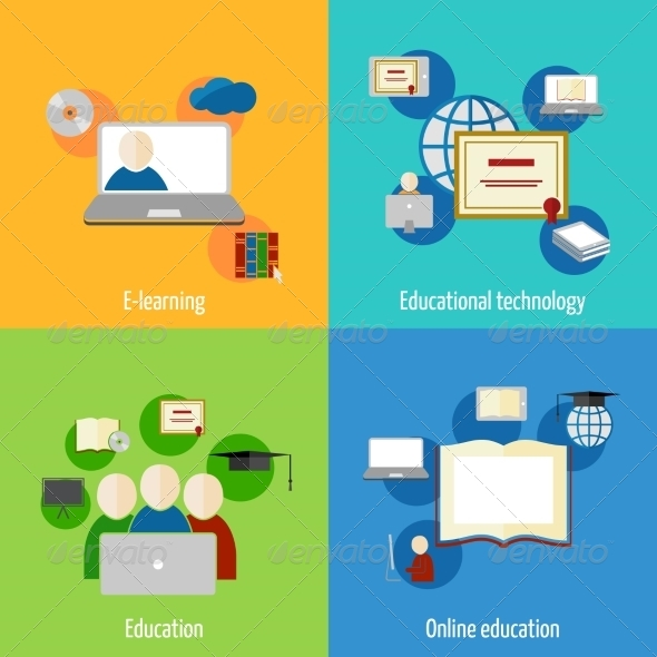 GraphicRiver Online Education Icons 7824605