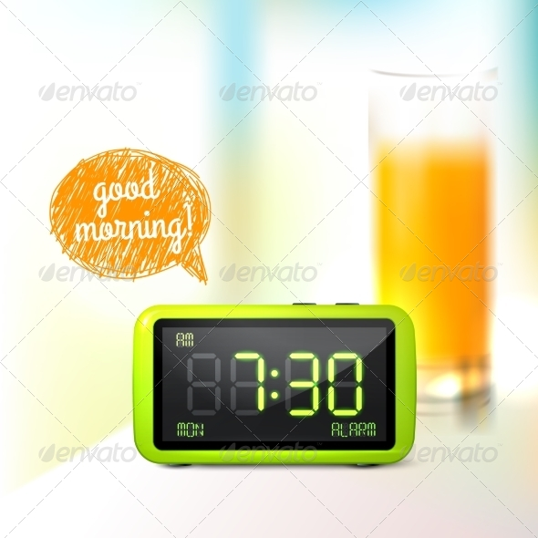 Digital Alarm Clock Background