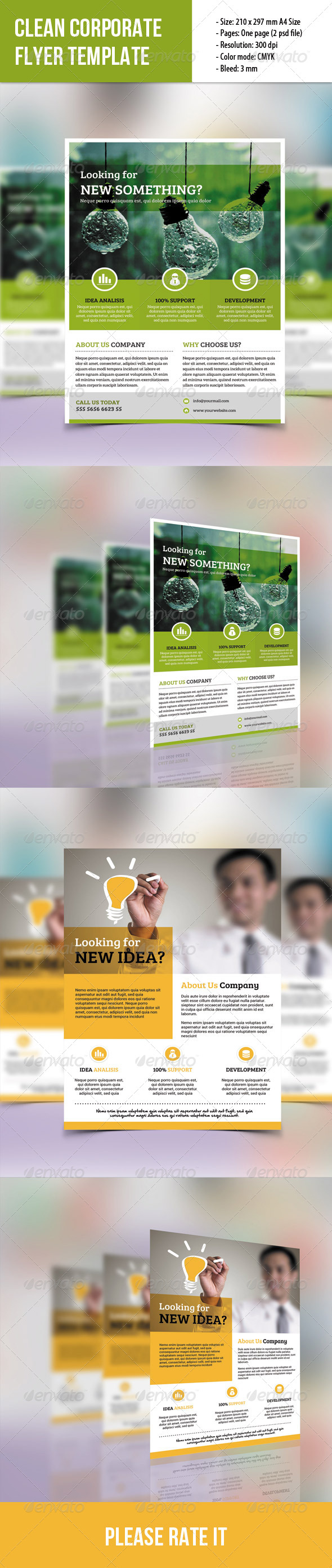 GraphicRiver 2 Clean Corporate Flyer 7824640