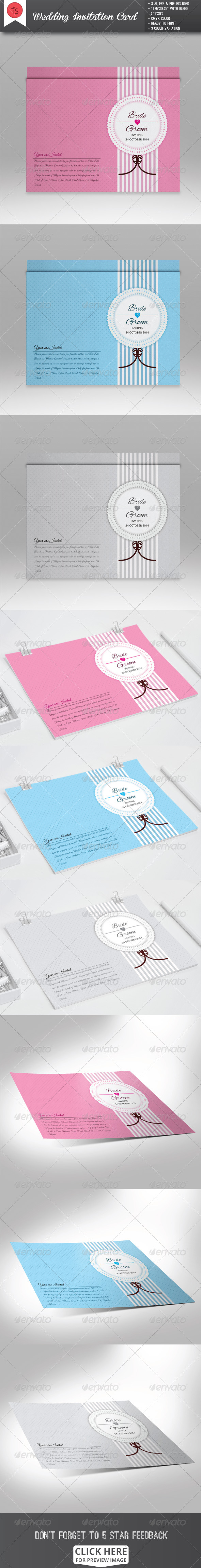 GraphicRiver Wedding Invitation Card 7824706