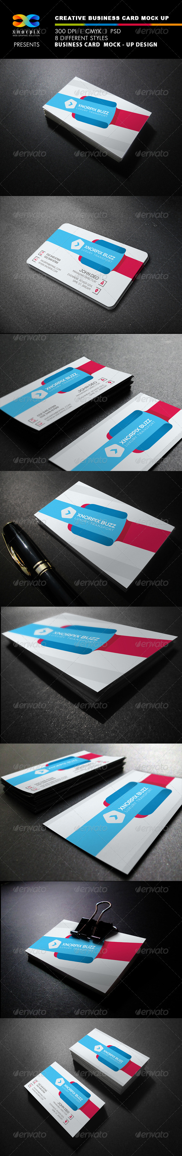 GraphicRiver Realistic Business Card Mock up 7824989