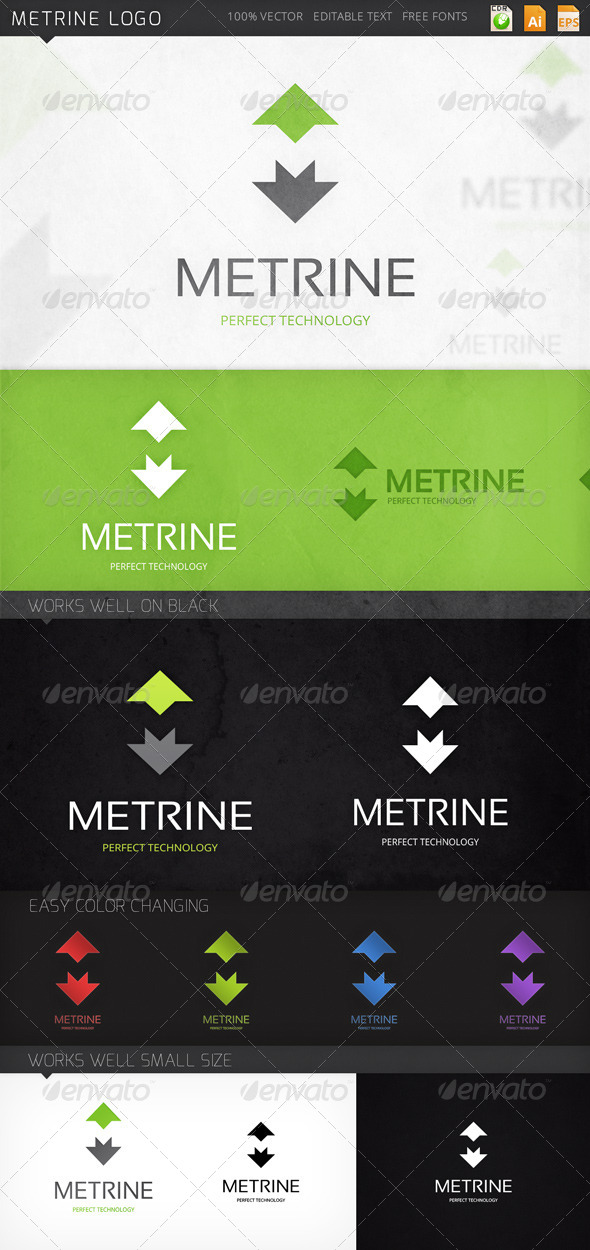 GraphicRiver Metrine Logo 7825500