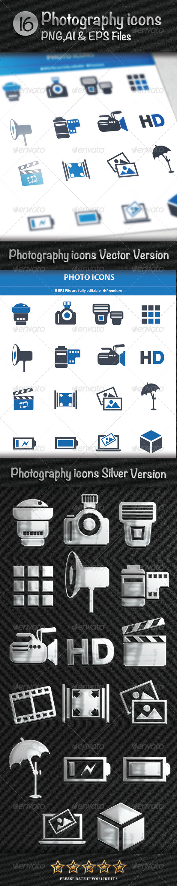 GraphicRiver Photography Icons 7825912