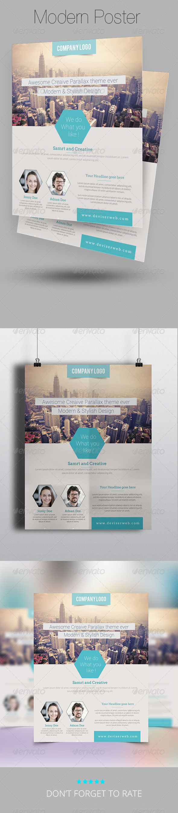 Modern Business Flyer Poster Template