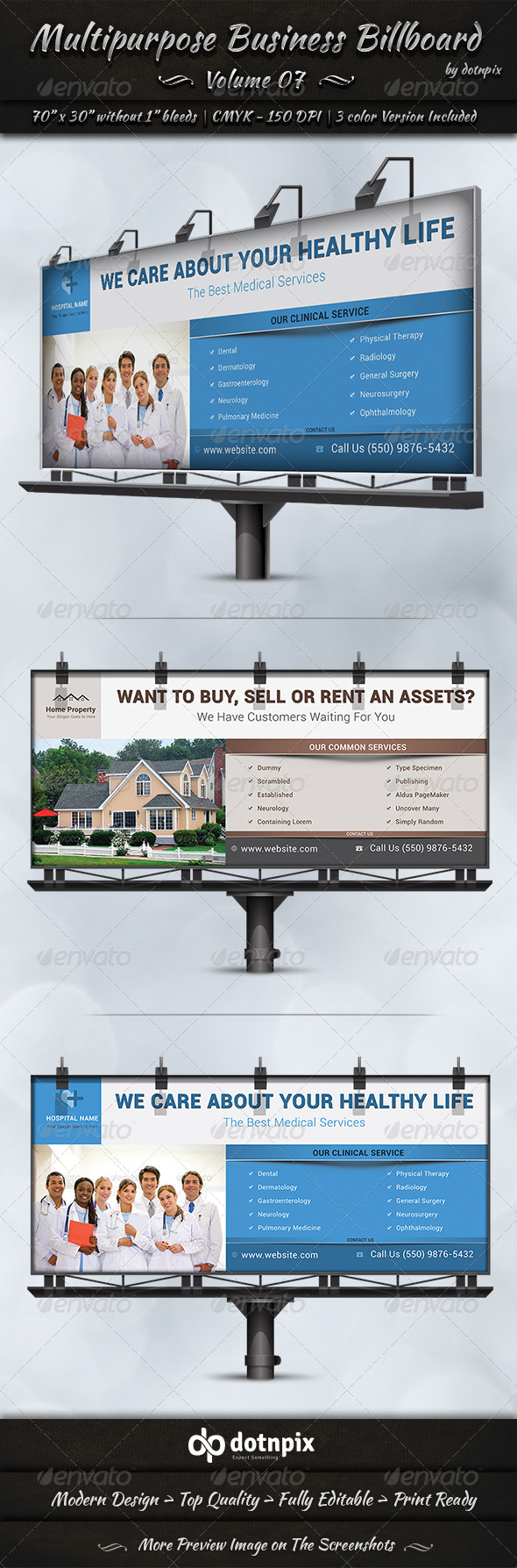 GraphicRiver Multipurpose Business Billboard Volume 7 7826598