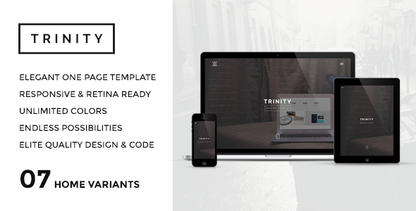 ThemeForest TRINITY Elegant & Responsive One Page Parallax 7826892