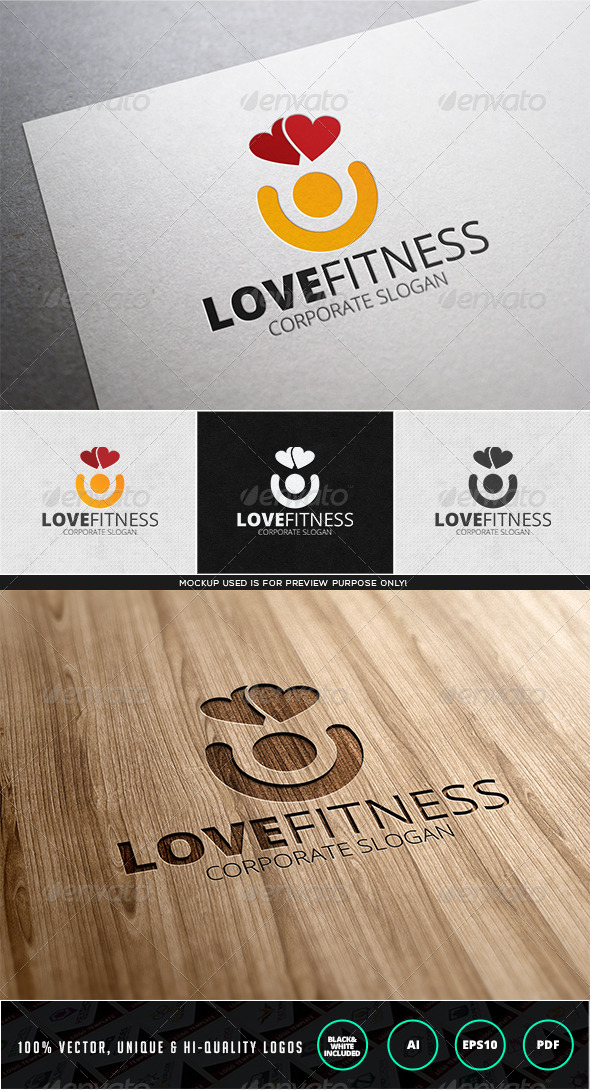 GraphicRiver Love Fitness Logo Template 7826995