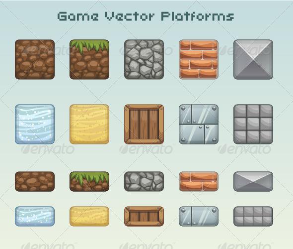 GraphicRiver Set of Game Platforms 7827005
