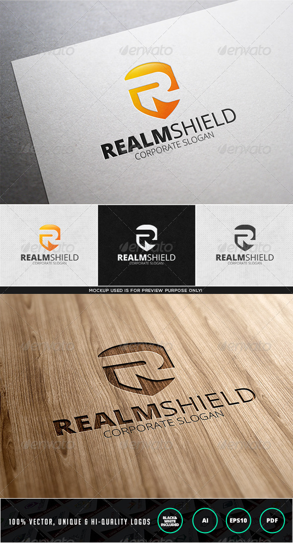 Realm Shield Logo Template - Letters Logo Templates