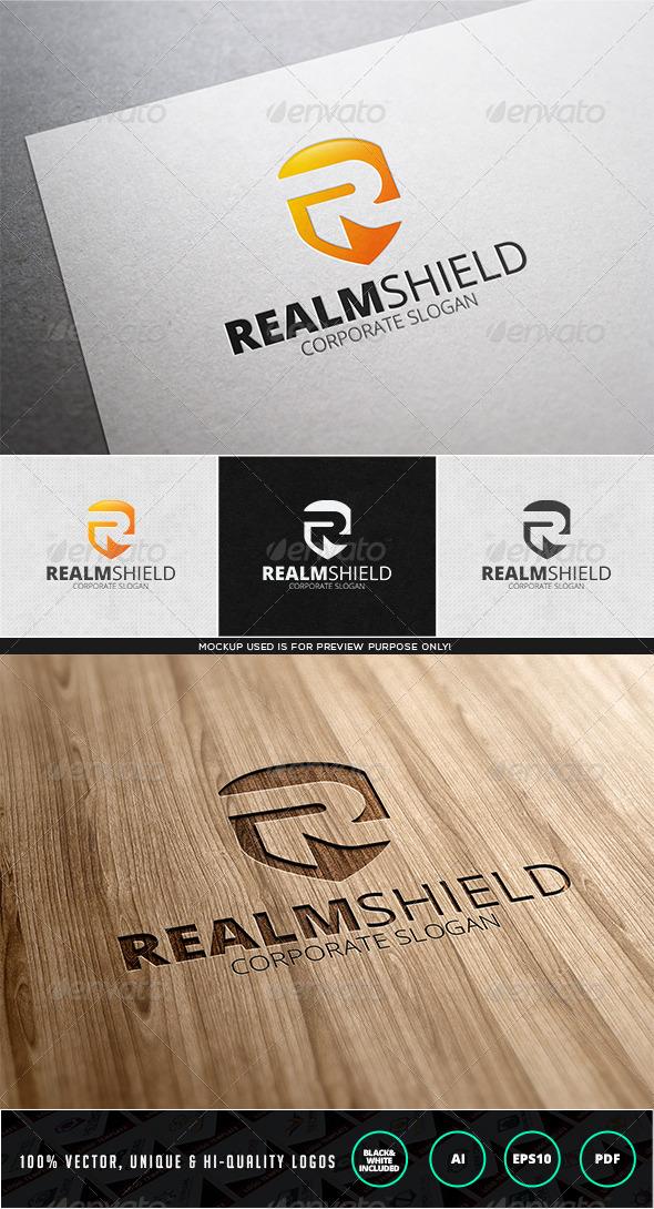 GraphicRiver Realm Shield Logo Template 7827020