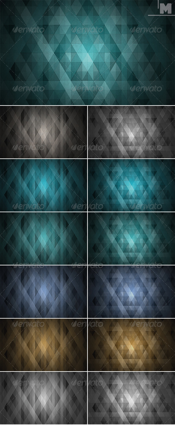 GraphicRiver Triangles Backgrounds 7827101