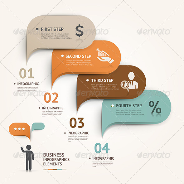 GraphicRiver Modern Speech Bubble Infographic Template 7827274