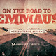 On the Road to Emmaus Church Flyer Invite Template