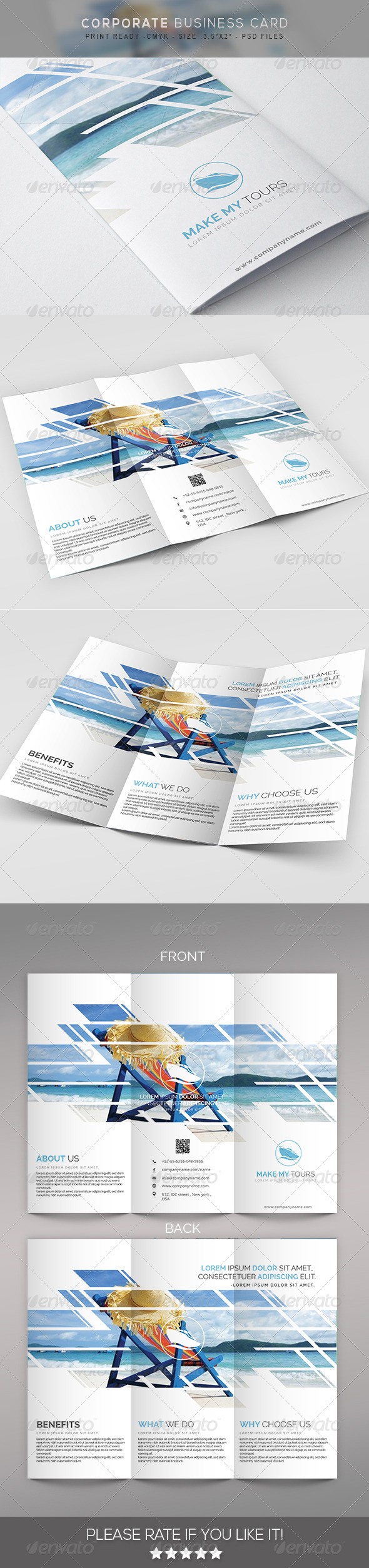 GraphicRiver Tour&travels multipurpose Trifold Brochure< 7827363