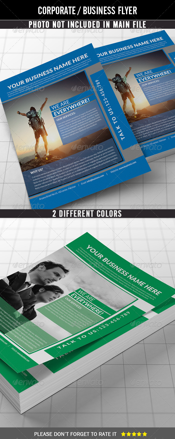 GraphicRiver Corporate Flyer Simple and Clean 7827401