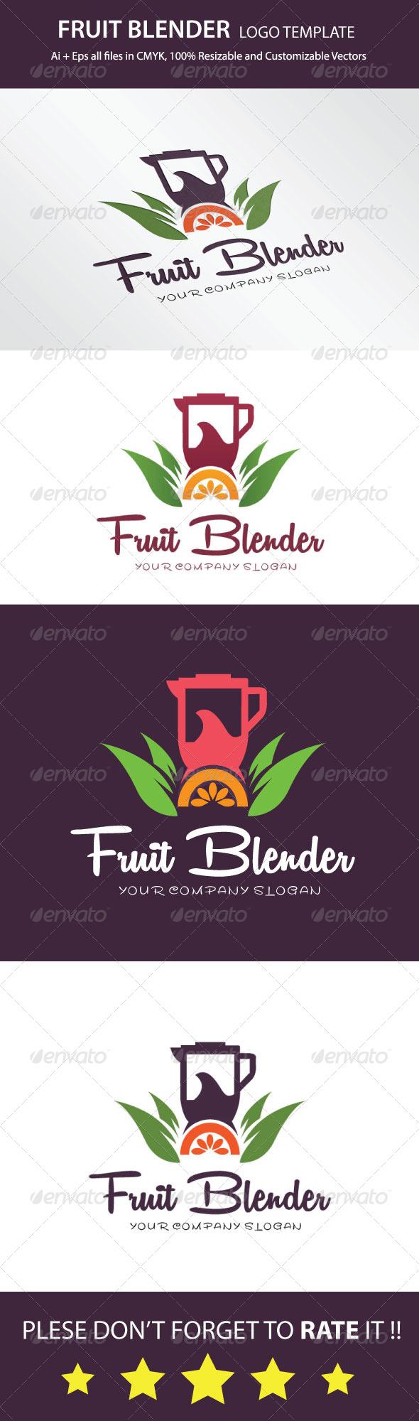 GraphicRiver Fruit Blender Logo Template 7827480