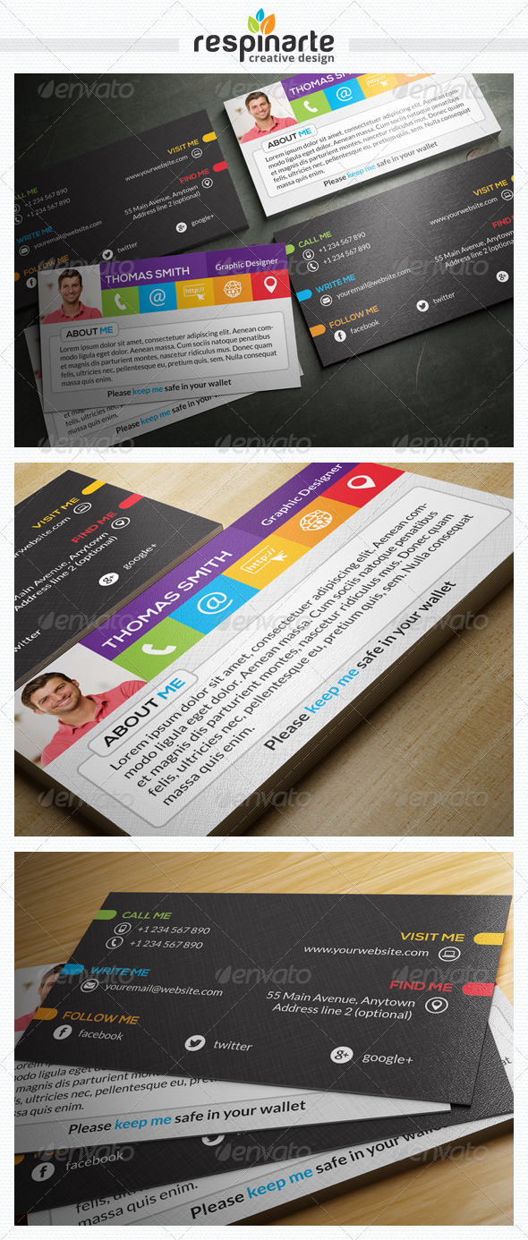 GraphicRiver Personal Business Card RA15 7827484