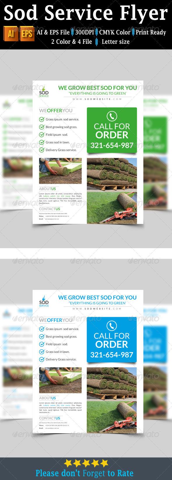 GraphicRiver Sod Service Flyer 7827690