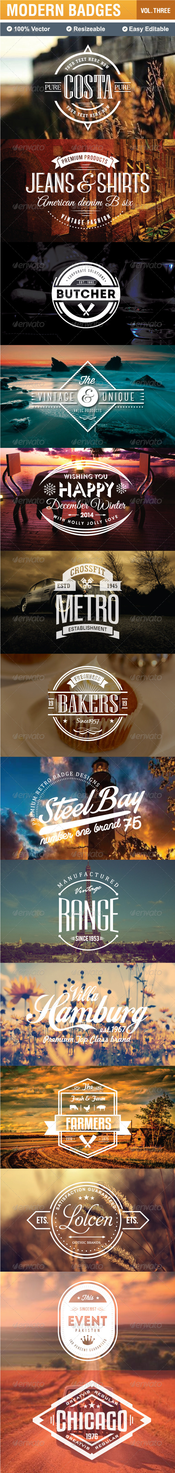 GraphicRiver Modern Badges and Labels 7827881