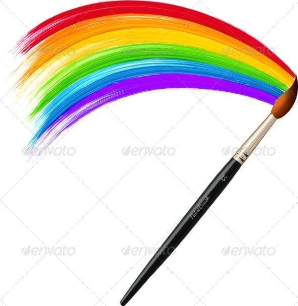 GraphicRiver Brush Painting Rainbow 7827952