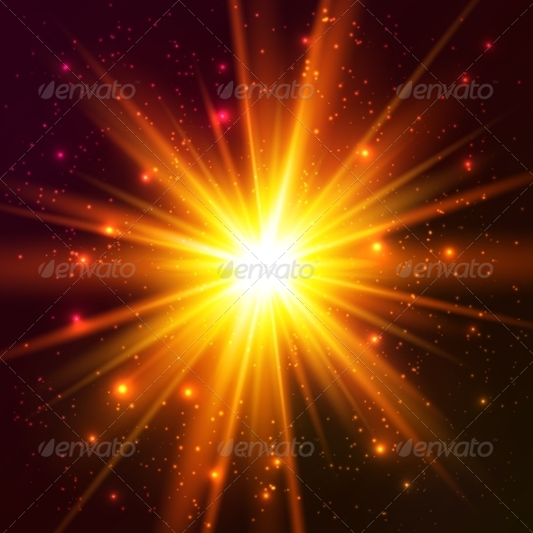 GraphicRiver Yellow Cosmic Explosion 7827958
