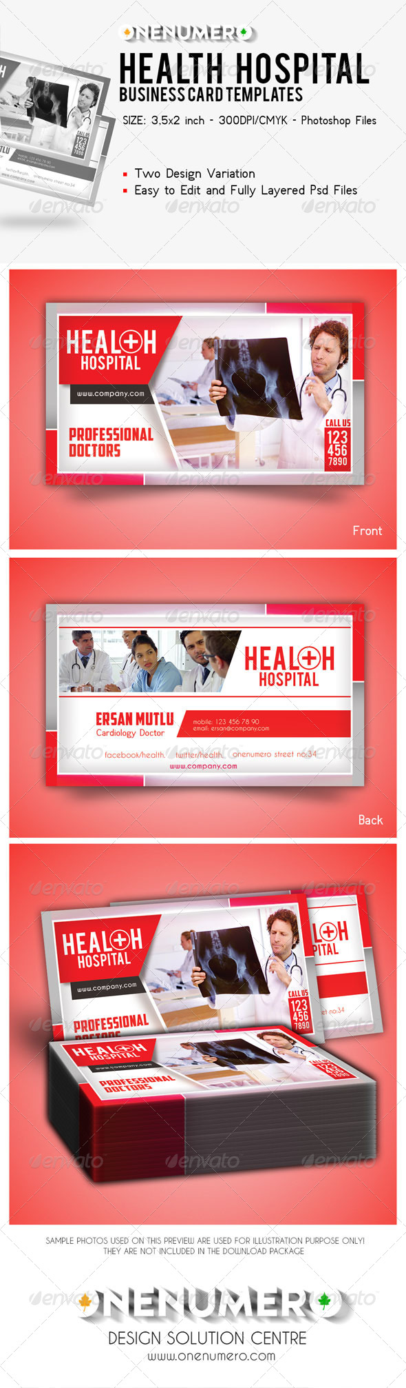 GraphicRiver Health Hospital Business Card Templates 7828261