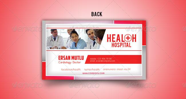 hospital menu template - health hospital business card templates by mutluajans