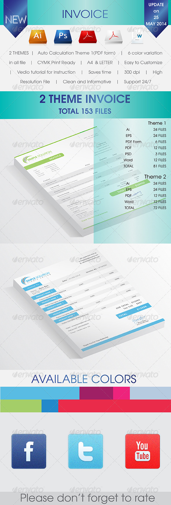 GraphicRiver 2 Invoices 7650135