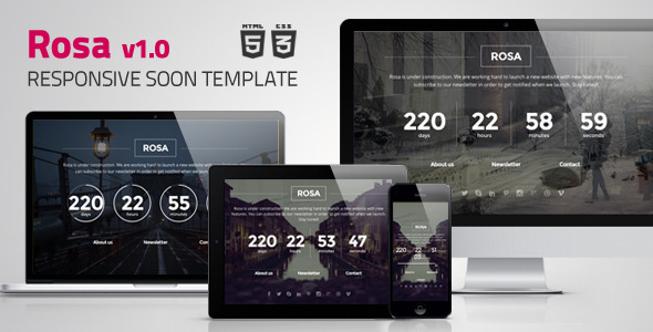 ThemeForest Rosa Responsive Coming Soon Template 7828572