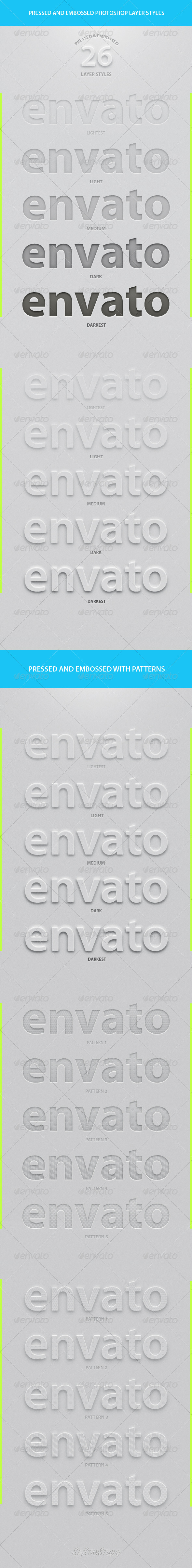 GraphicRiver 26 Best Pressed & Embossed Styles 7828663