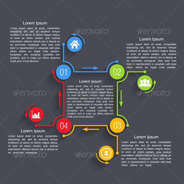 GraphicRiver Design Template with Four Elements 7829113