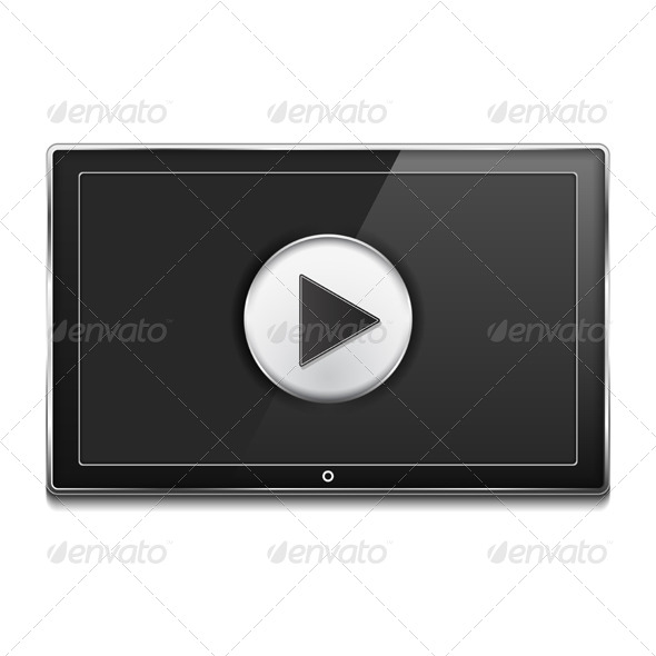 GraphicRiver TV Screen with Play Button 7829114
