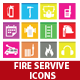 Fire Service Icons - GraphicRiver Item for Sale