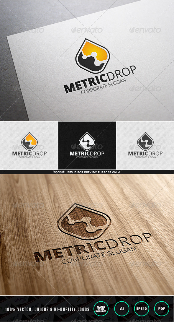 GraphicRiver Metric Drop Logo Template 7829302