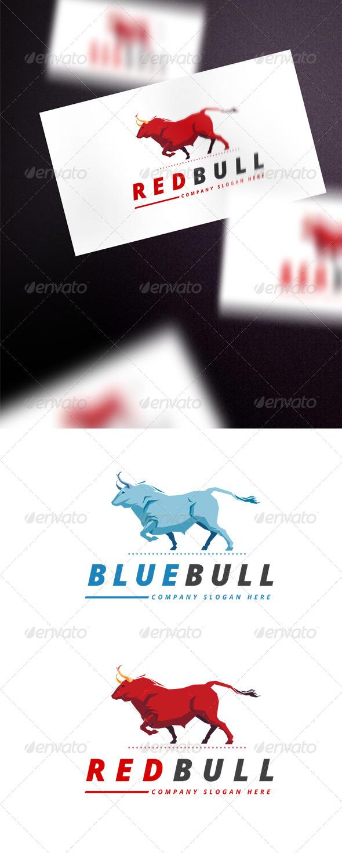 GraphicRiver Blue Bull Logo 7829464