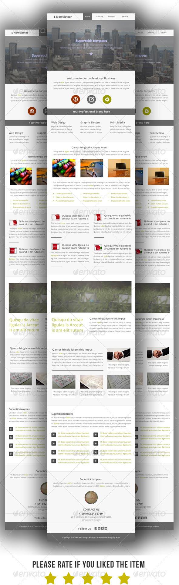 Multipurpose E-Newsletter Template V3